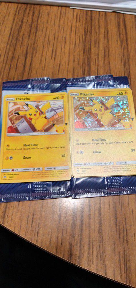Mcdonald's Pokemon Cards Pikachu Cards