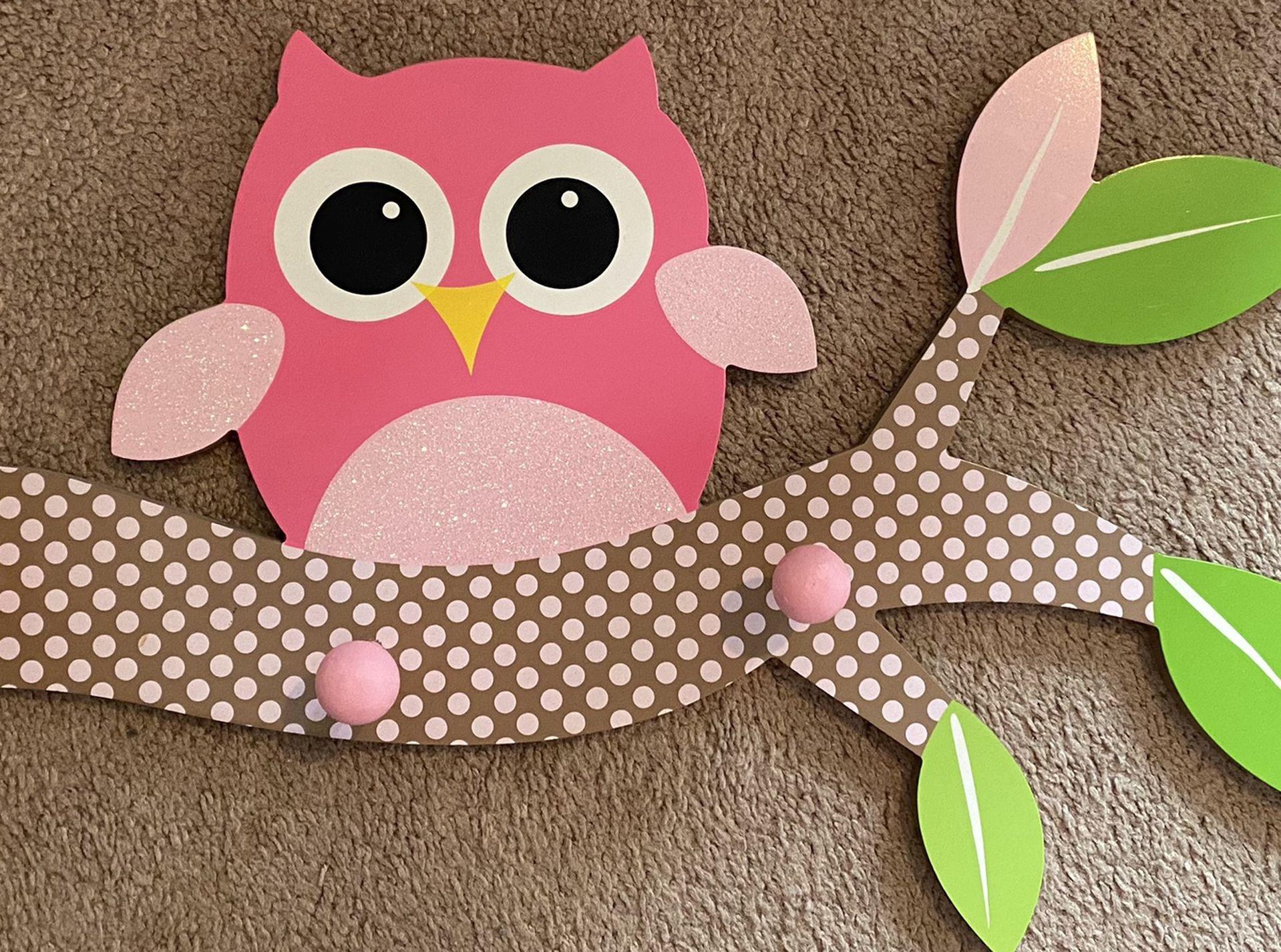 Owl Decor (hang Rack)
