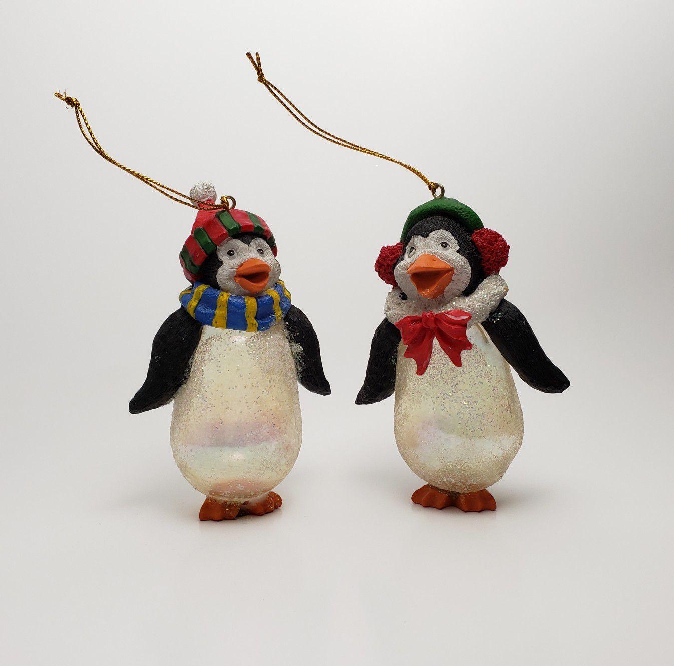 Christmas Penguin Ornaments - Set of 2