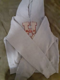 Pink and Light Grey HOLLISTER Hoodie Thumbnail