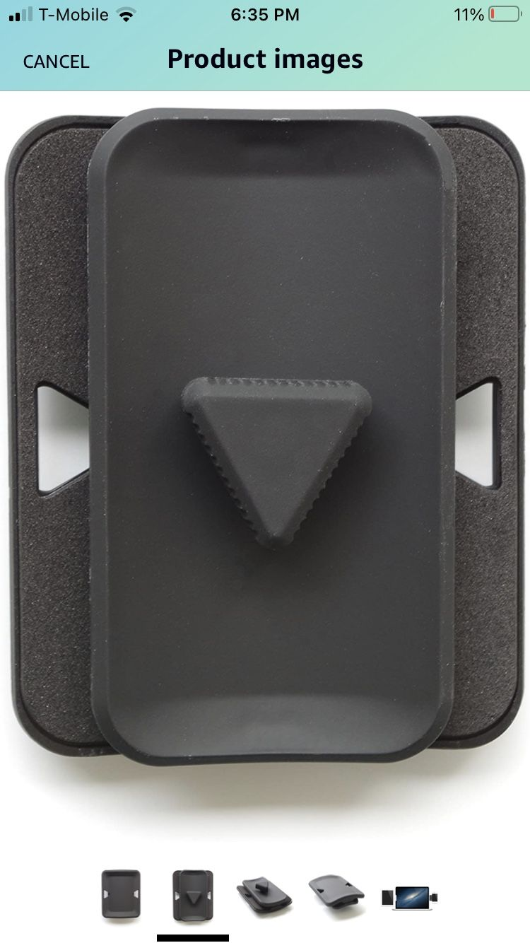 Xcivi Side Mount Clip - Mount Your Phone or Tablet to Your Laptop or Monitor - Dual or Triple Display Bracket Connects Tablet/Smartphone (Black)