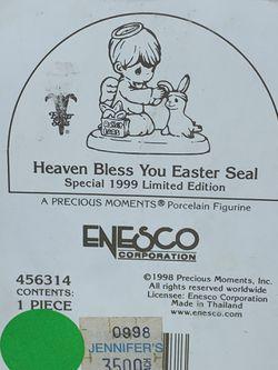 Precious Moments Heaven Bless You Easter Seal Thumbnail
