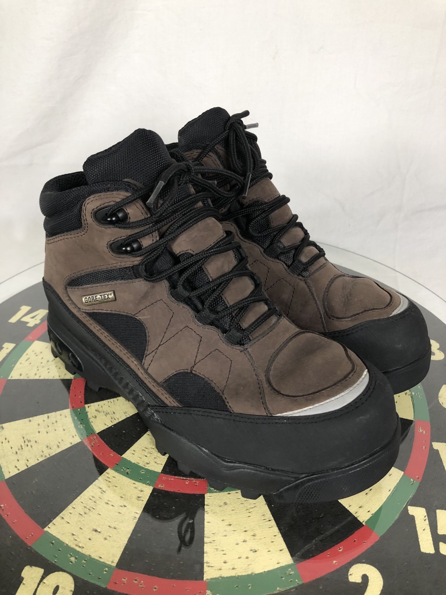 Nike ACG Air Hiking Brown Boots Men 9.5 US Leather Vintage 303830 Camping 2002