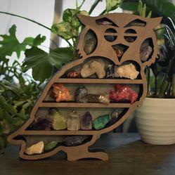 Unique Owl Shelf (for small treasures/crystals)  Thumbnail