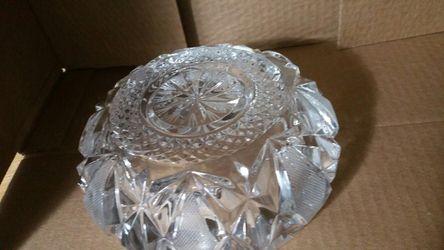 Deep crystal ashtray/candy dish Thumbnail