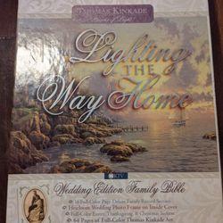 Thomas Kinkade wedding edition family bible new Thumbnail