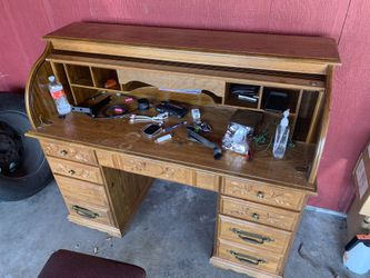 Solid Wood Computer Desk With Working Lamp  Thumbnail
