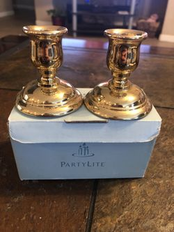 Partylite brass candle holders