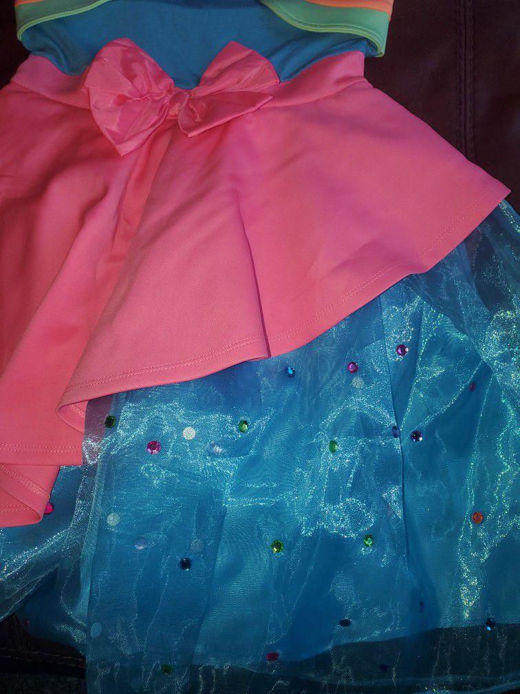 Jojo's Siwa Bow Birthday Dress Party Halloween Girls Large 10-12  NWT
