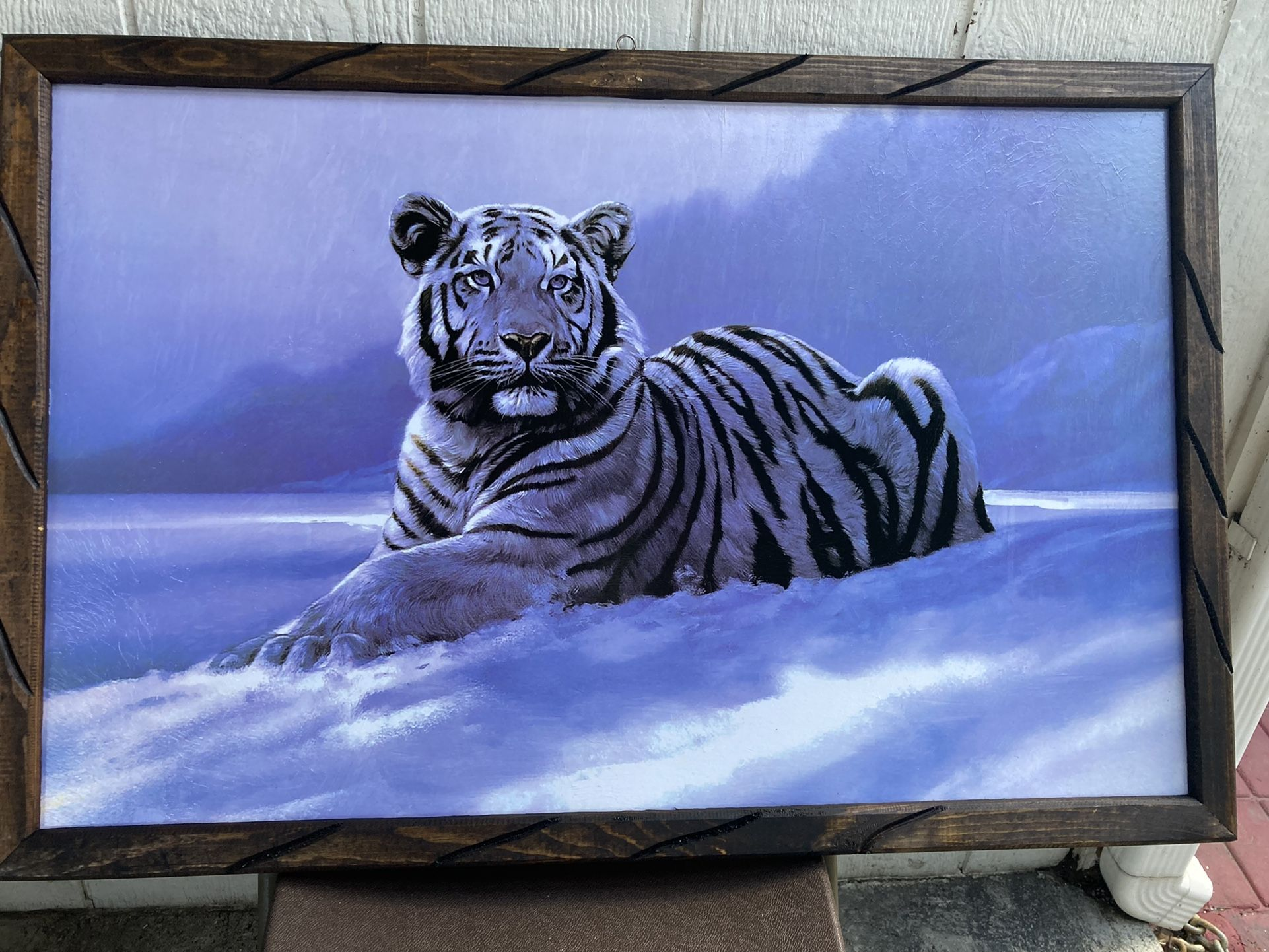 White Tiger 🐅 Frames Tattoos Shop Barbershop 💈 Home Decor Man Cave Posters Patios Living Room Cuadro