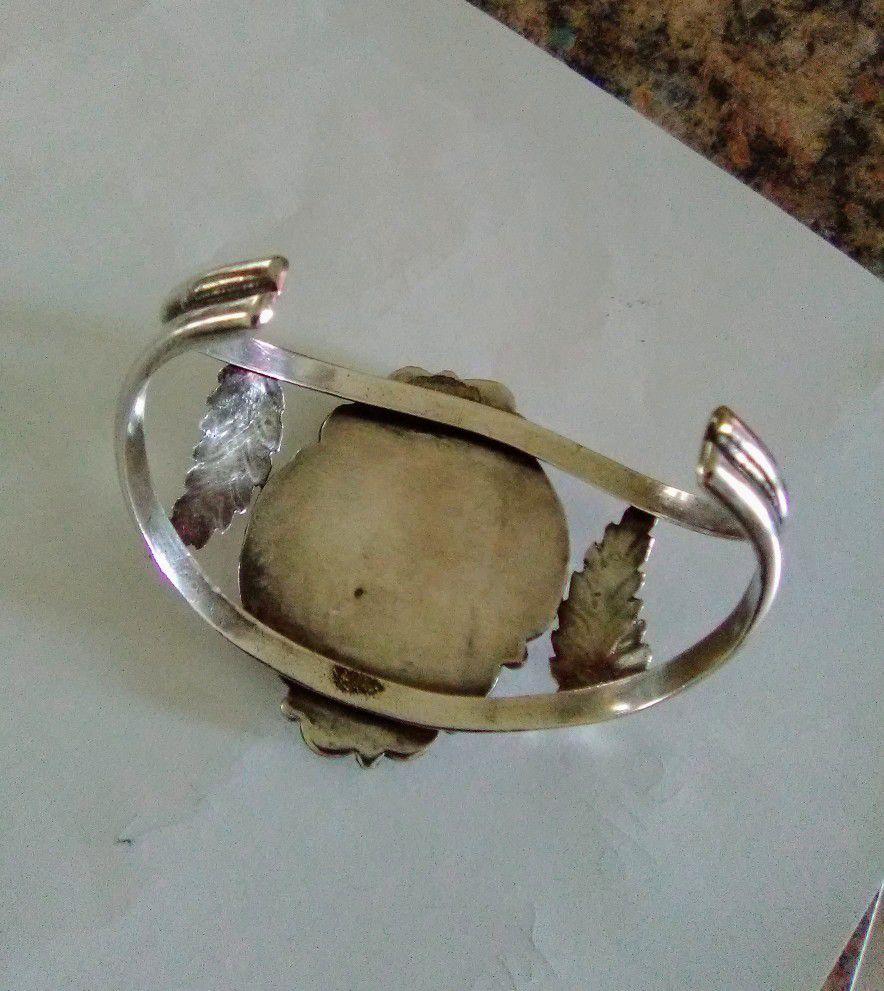 Vintage Sterling Silver Bracelet & Ring Set