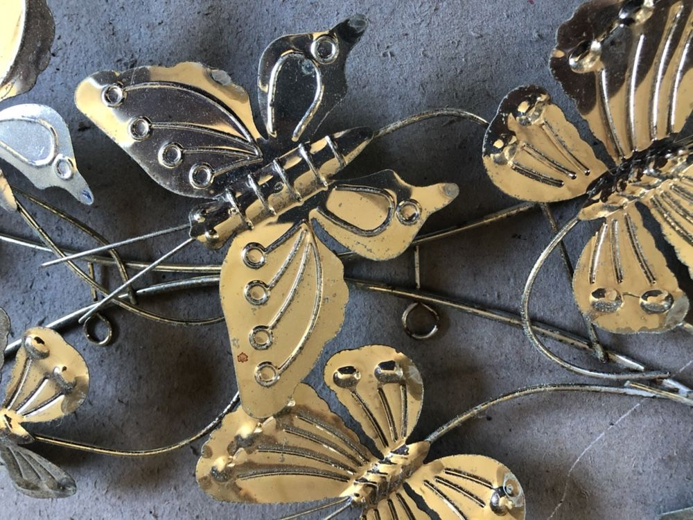 Wall Decoration (metal butterflies and leaves)