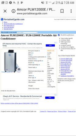 Amcor portable AC unit 12000 BTU Thumbnail
