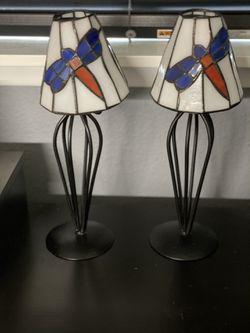 Stained Glass Fireflies Tea Lights Thumbnail