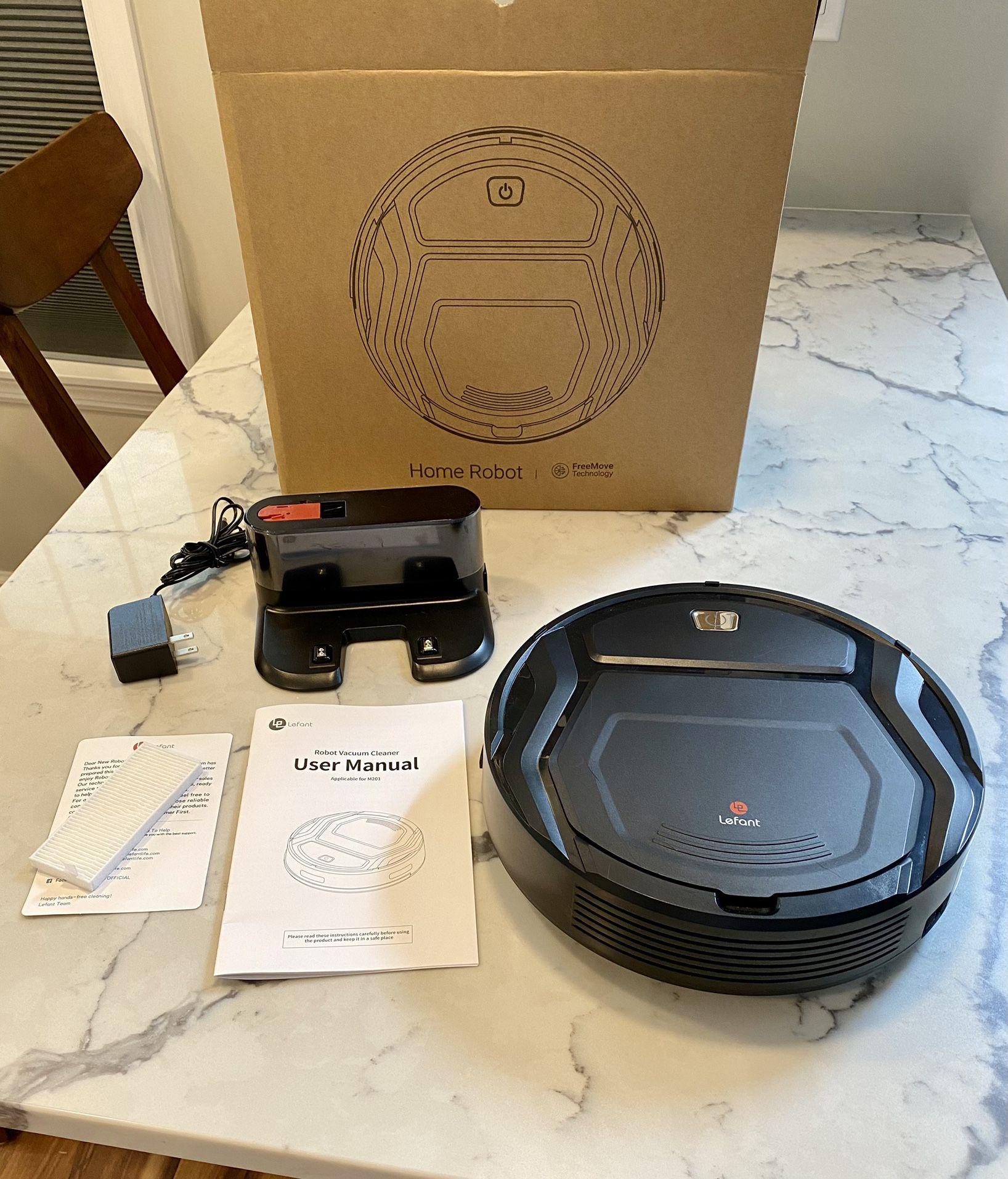 Lefant Robot Vacuum Cleaner, Auto Robotic Vacuums, Upgraded 6D Collision Sensor, 1800pa WiFi/App/Alexa, Self-Charging, Super Quiet Mini Cleaning Robot