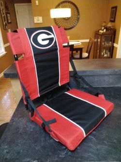 A Georgia Sit That Folds And Has Shoulder Strap .   It's Like New .       See Size . Thumbnail