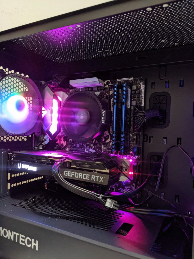 Gaming pc Nvidia RTX 3060 ti Ryzen 5 3600 16GB RAM WD Black sn750