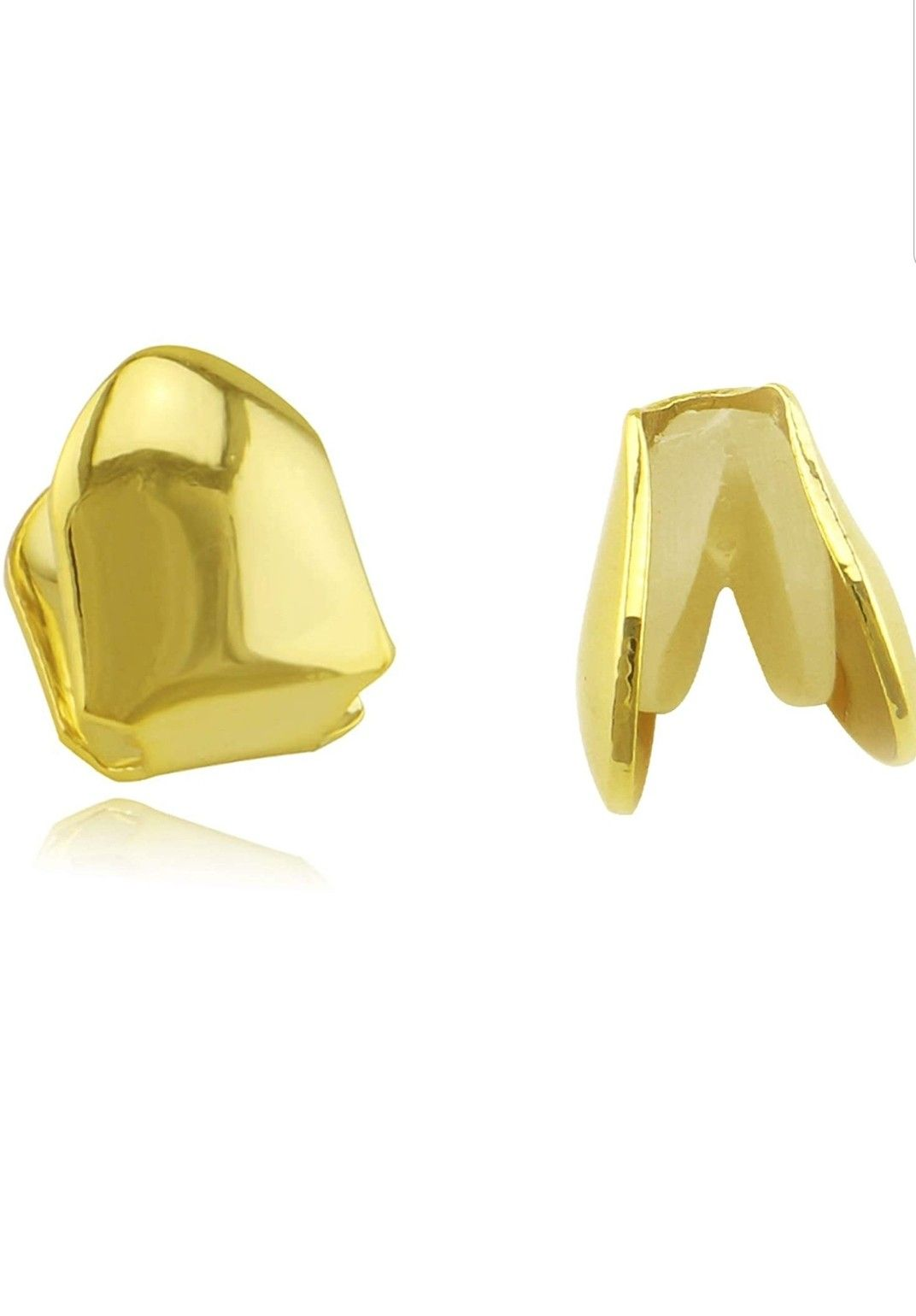 1 piece 14k plated gold Grillz single grill cap Hip hop to tooth