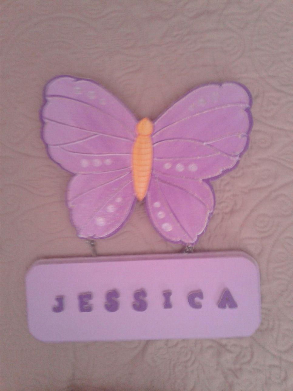 Butterfly decoration with a name
