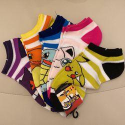 Pokemon Socks New Ankle Size 5-10 5-pack Thumbnail