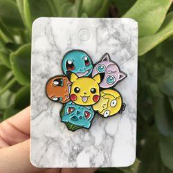 Pikachu X Bulbasaur X Charmander X Psyduck X Squirtle X Jiggleypuff Pokemon Pin Thumbnail