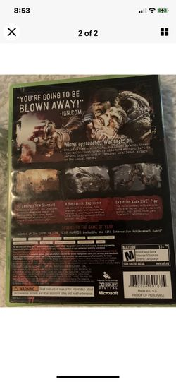 """Gears of War 2 (Xbox 360, 2008). Condition is """"Very Good"""". Shipped with USPS First Class. Thumbnail"""
