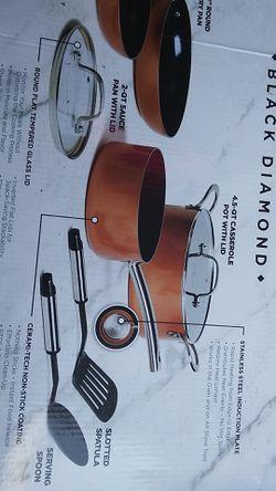 Copper Chef Black Diamond 8 Piece set Thumbnail