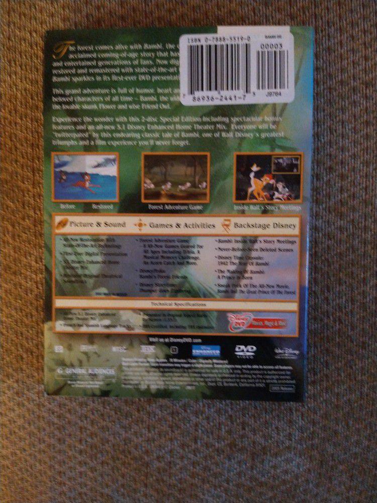 Walt Disney's Bambi 2 Disc Special Edition Brand New