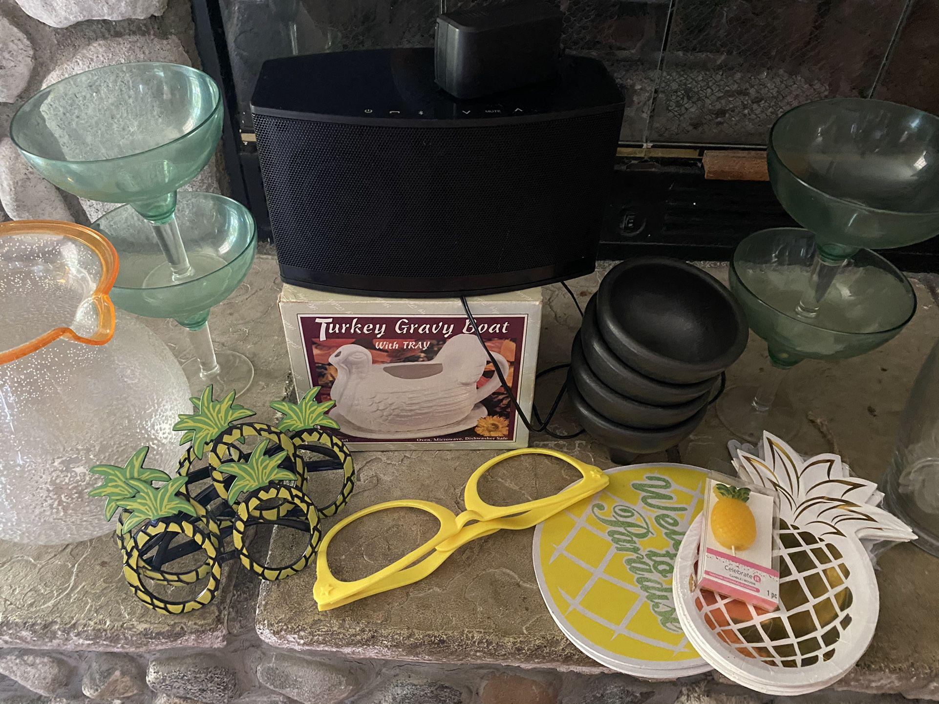 Home Stuff  Bluetooth Speaker  Juice Jars Molcajete Bowls and More