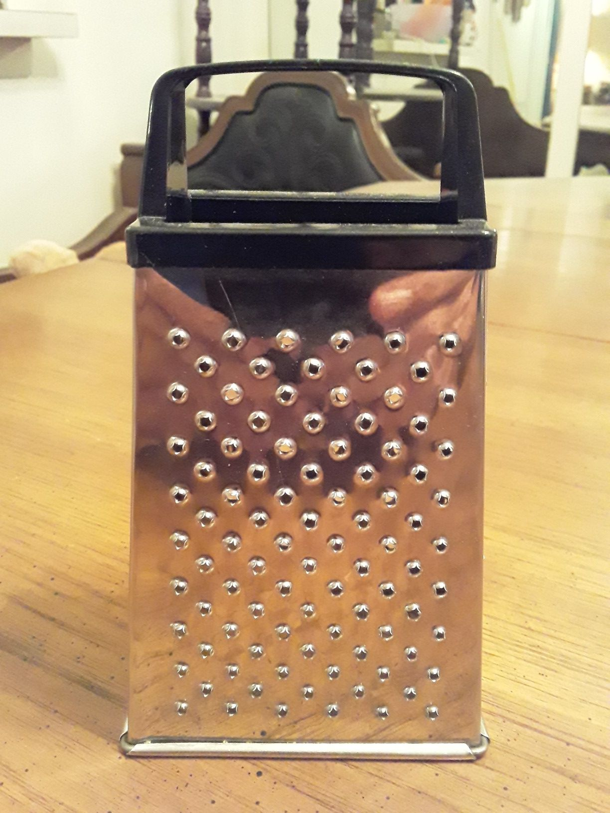"""Mini Stainless Steel Four Sided Cheese Grater & Vegetable Slicer- 5 3/4""""H"""