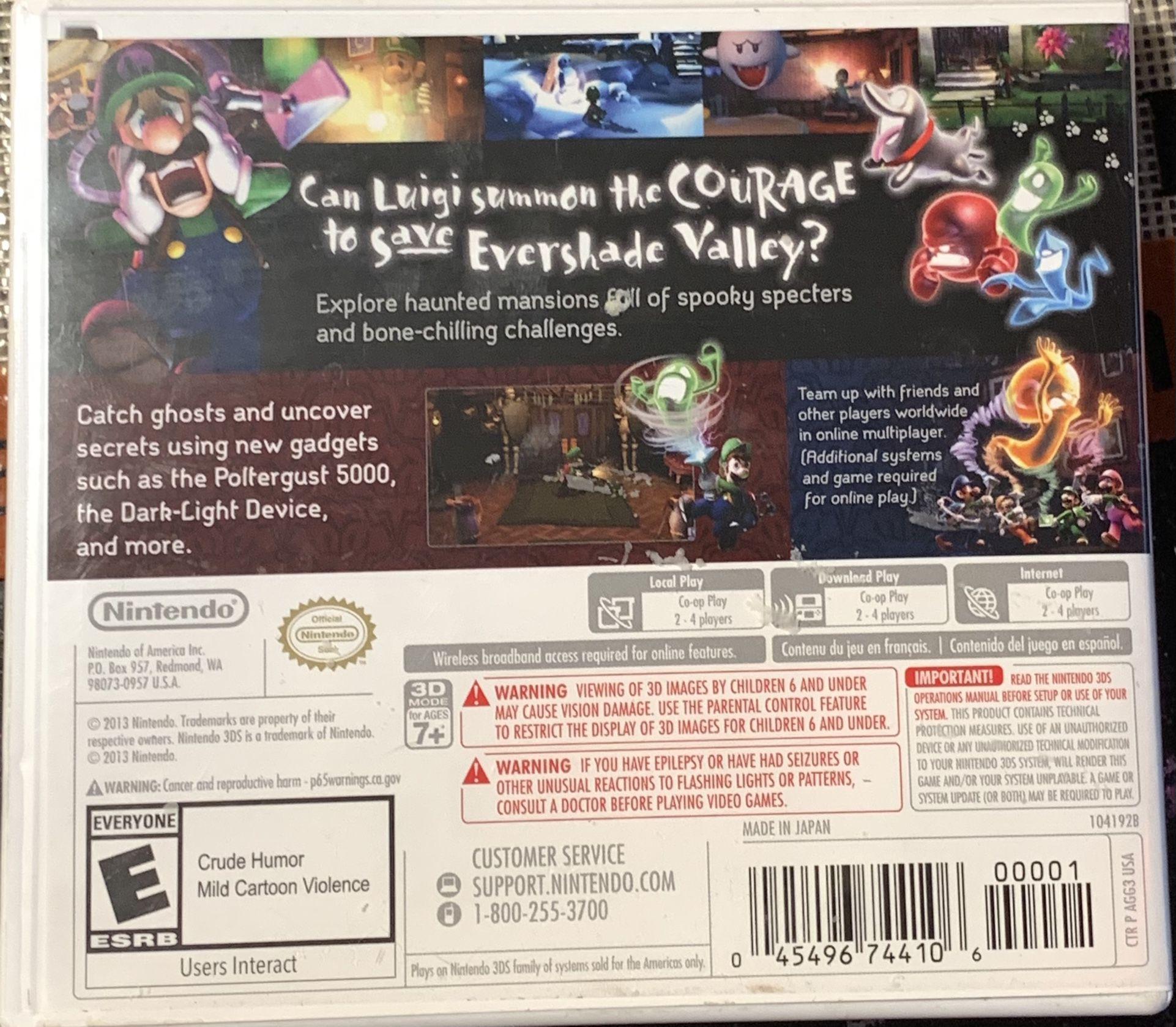 Luigis Mansion (Dark Moon) For 3DS