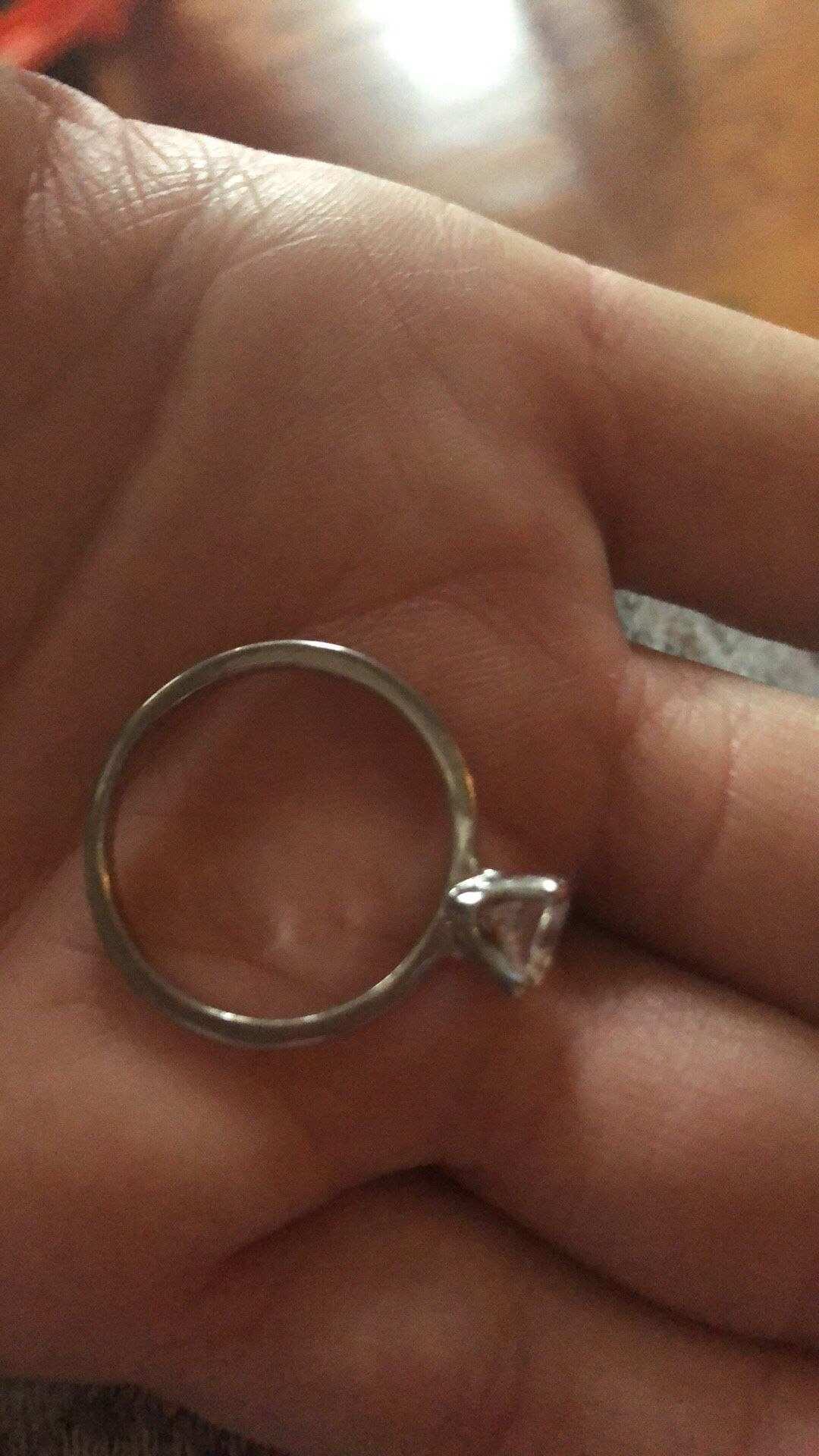Wedding RingG Si Carat Cushion Diamond Ring 14K White Gold Enhanced