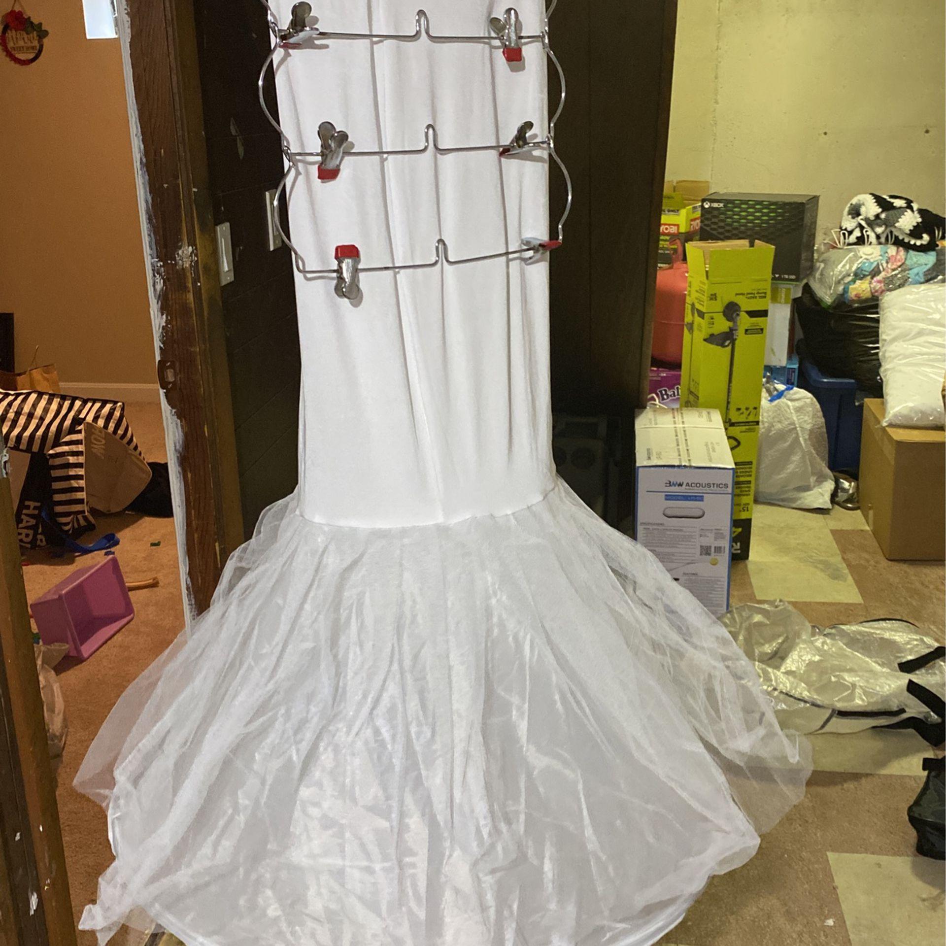 Mermaid Wedding Dress Size 20 With Mermaid Petticoat
