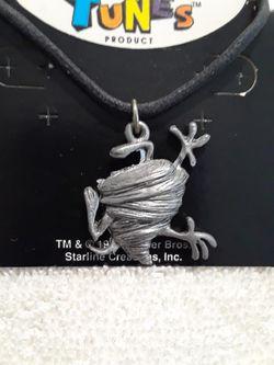 Vintage Looney tunes taz twirl necklace  Thumbnail