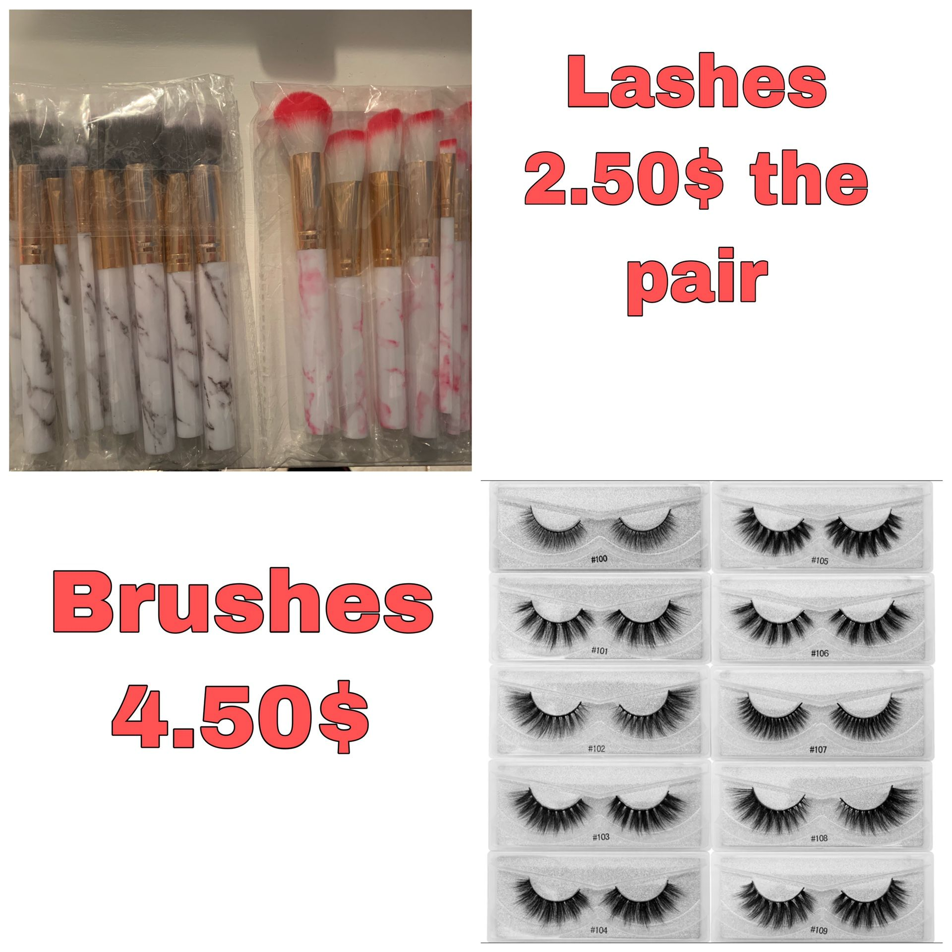 Eyelashes nd brushes