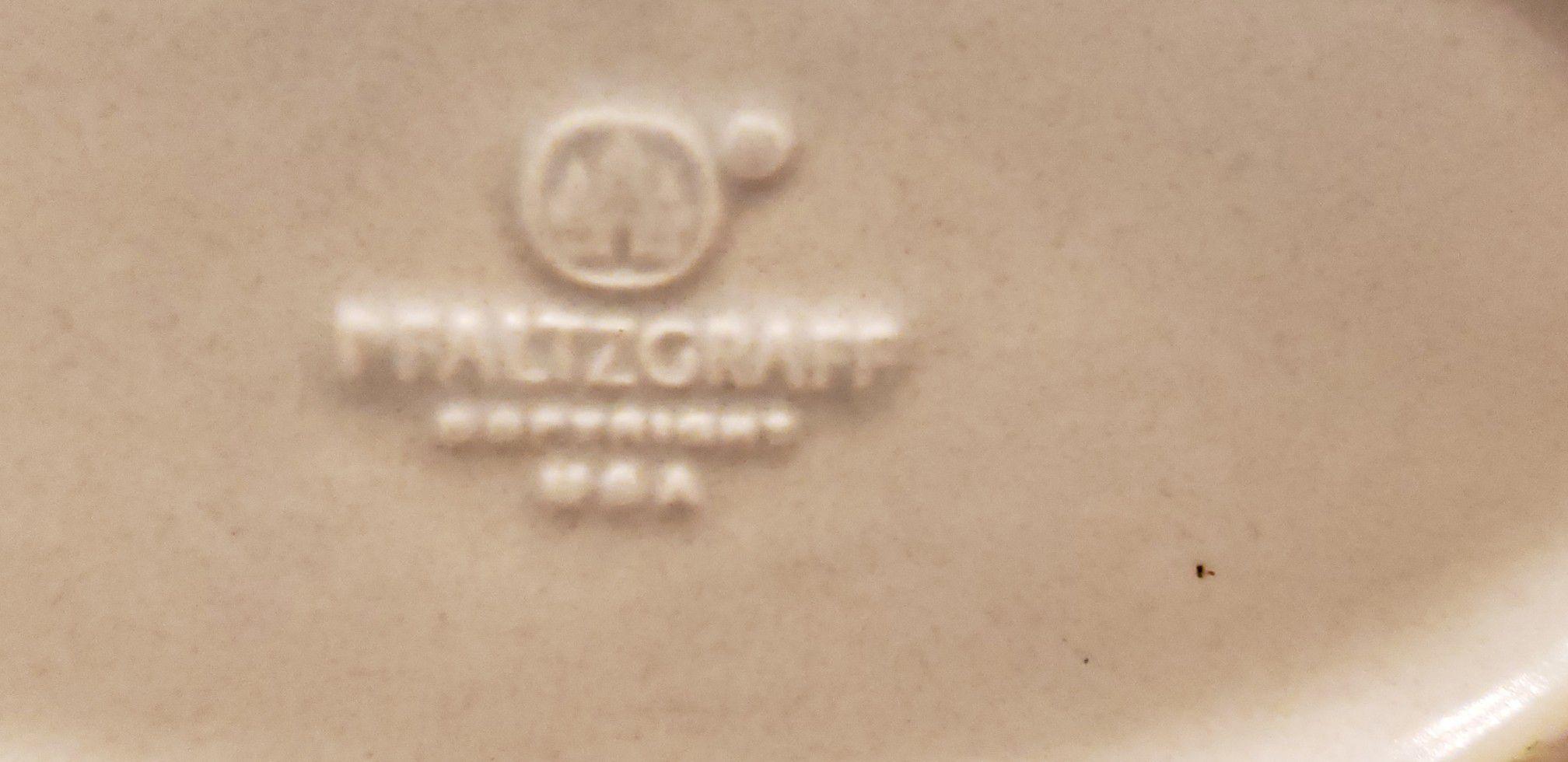 Pfaltzgraff Blue & White Stoneware Weaved Basket