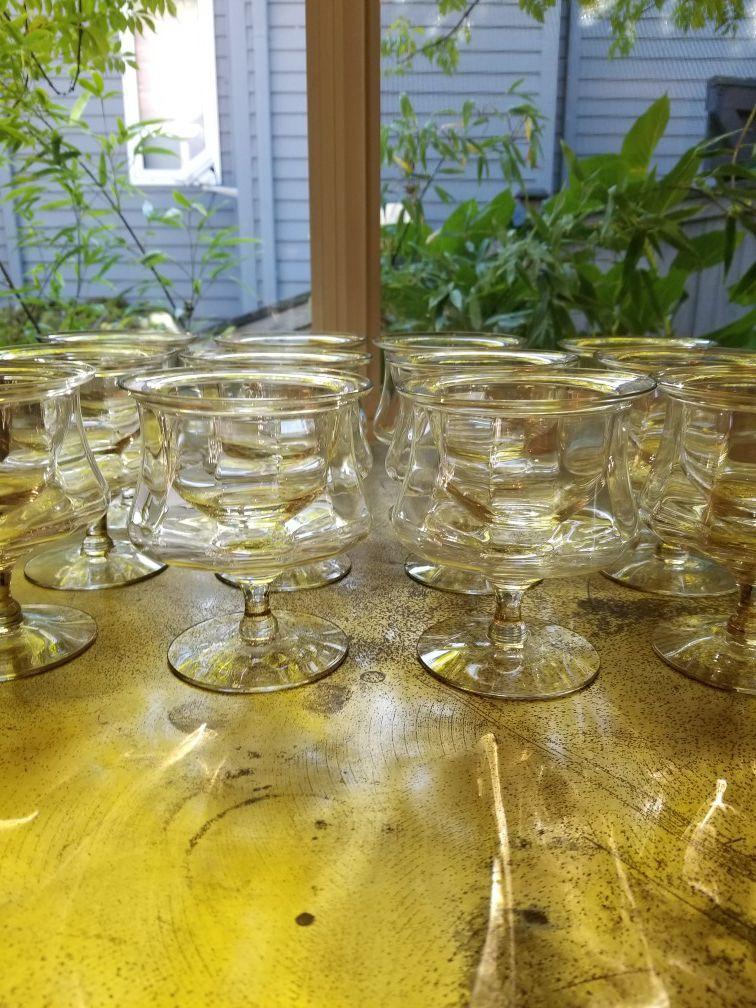 12 vintage crystal icers or glasses-cups-goblets