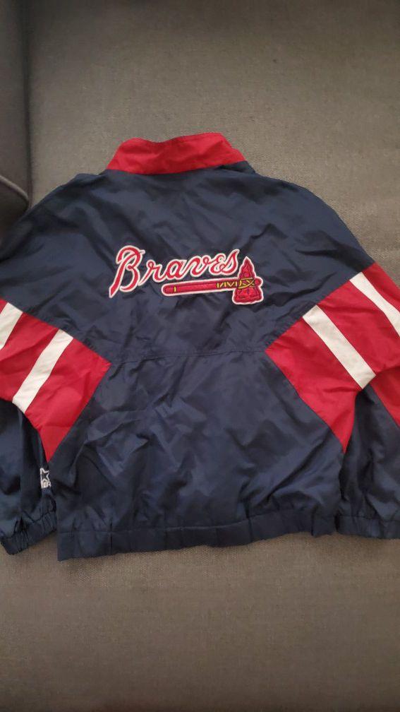 Atlanta Braves half zip windbreaker