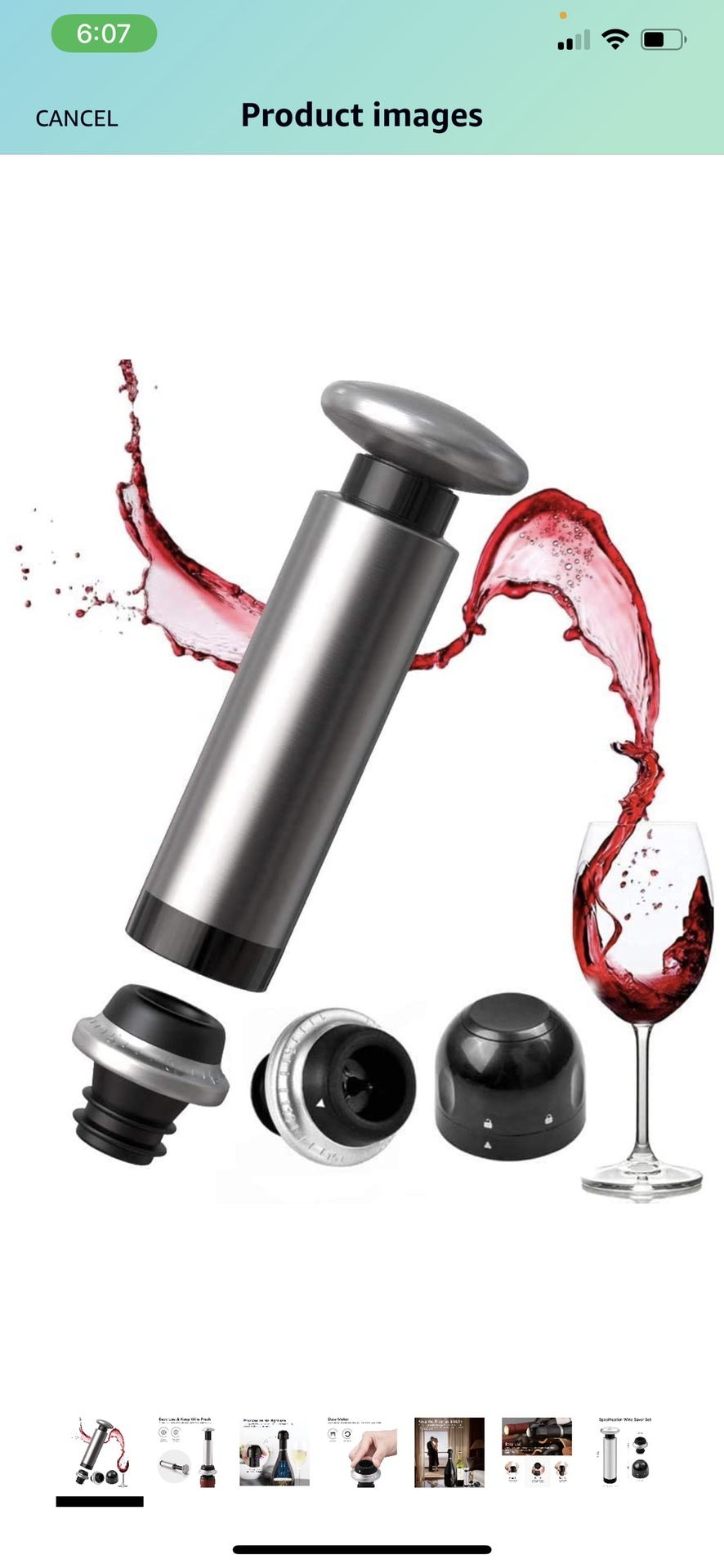 Wine saver vacuum pump with 2 wine bottle stopper