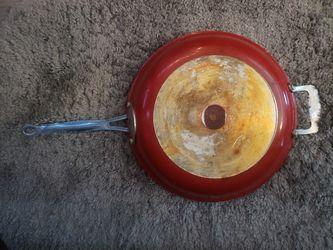 "Red Copper 12 "" frying pan Thumbnail"