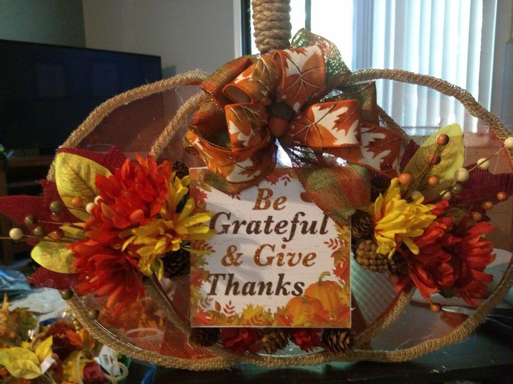 Tabletop pumpkin fall home decoration