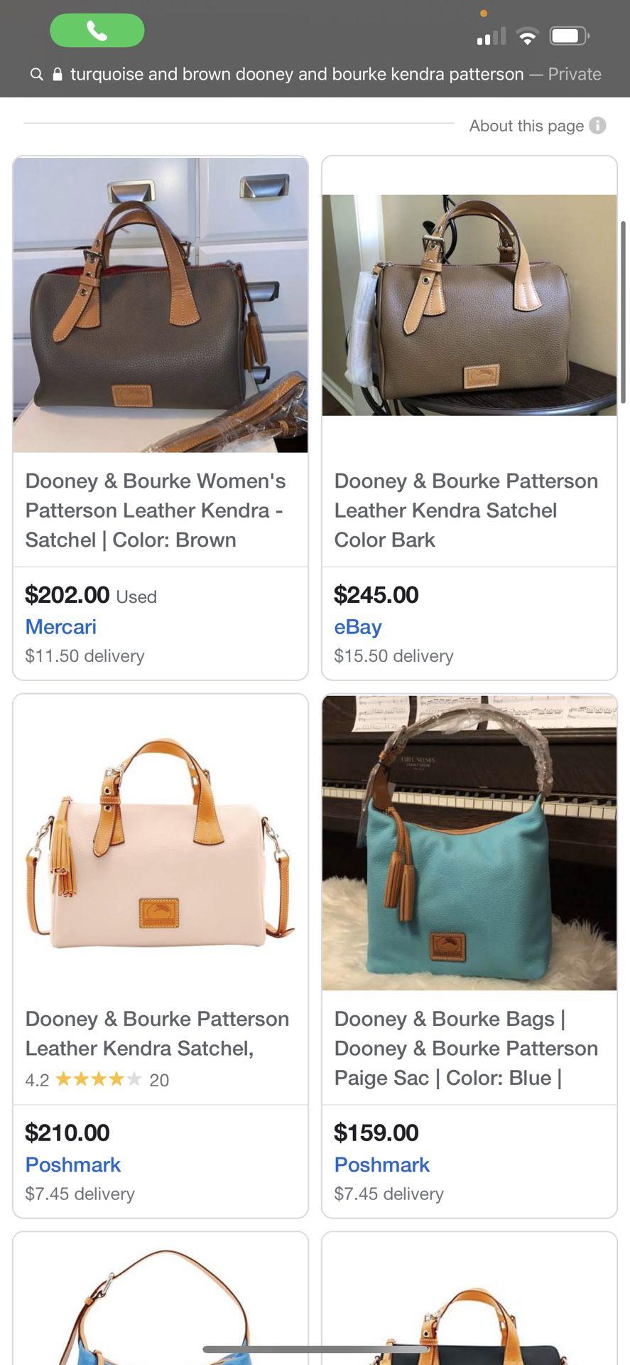 Authentic Dooney & Bourke Kendra Satchel