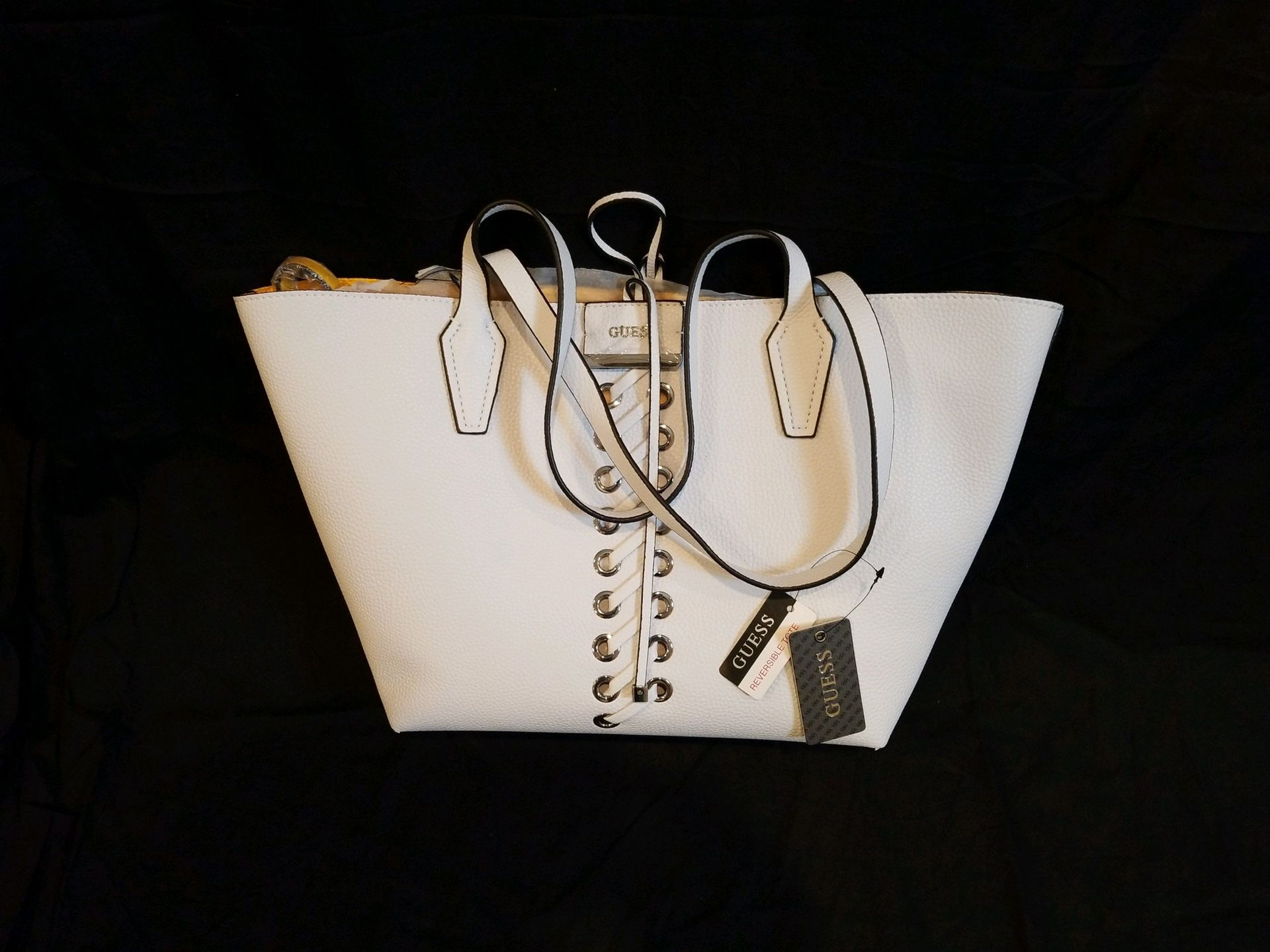 Guess Tote / Reversible  White / Yellow