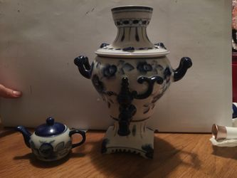 Vase and mini tea pot hand made in Russia Thumbnail