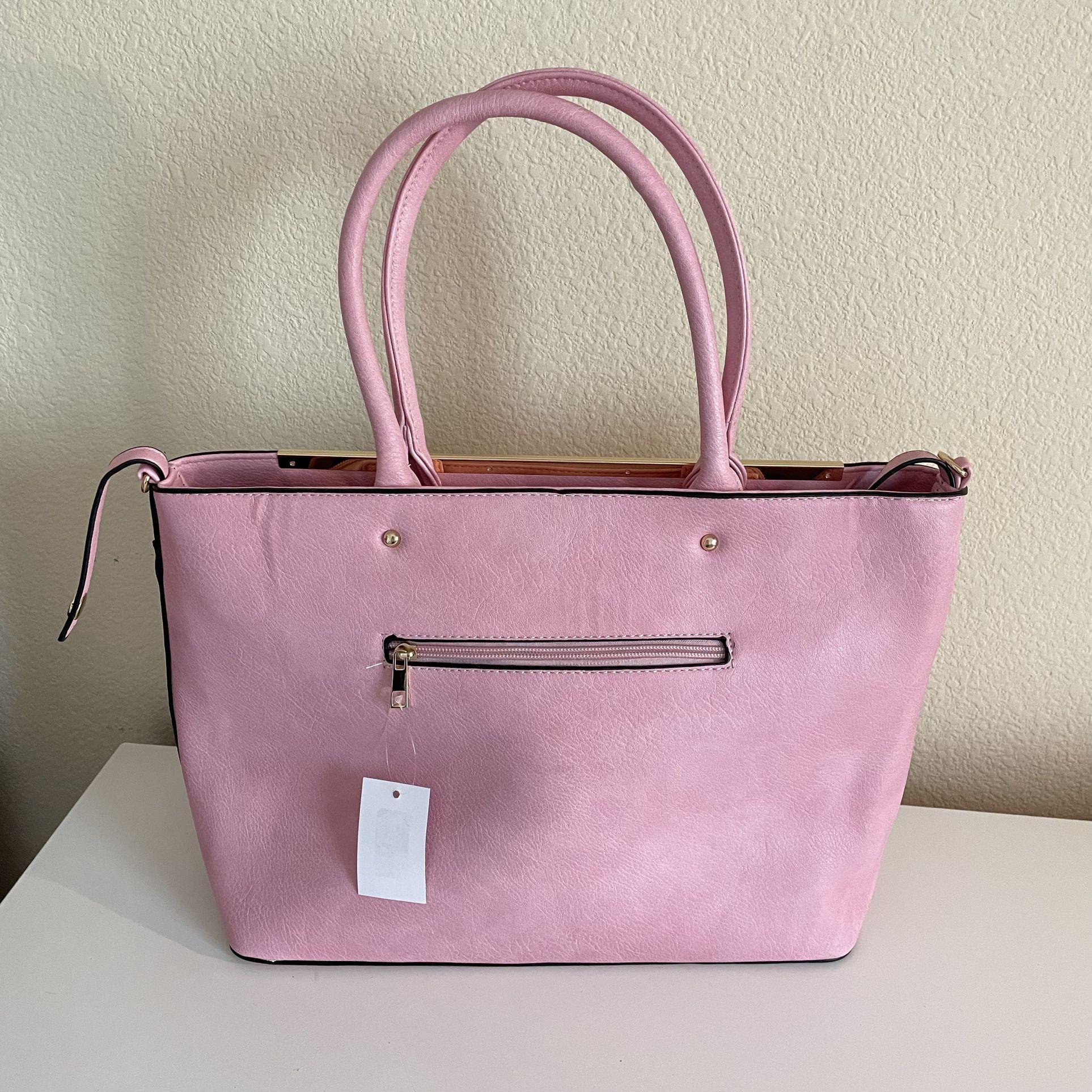 Womens Tote Bag Purse 2 Ways Pink