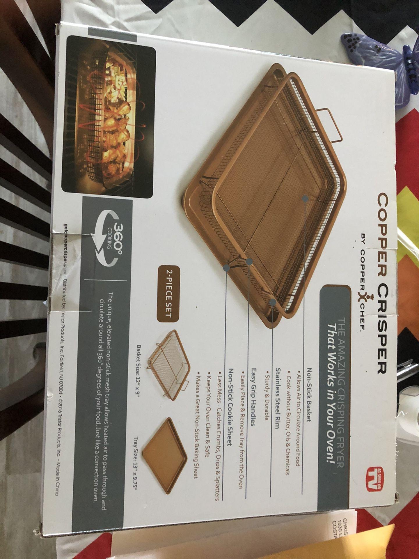 $10 Brand new copper Crisper by Copper Chef.