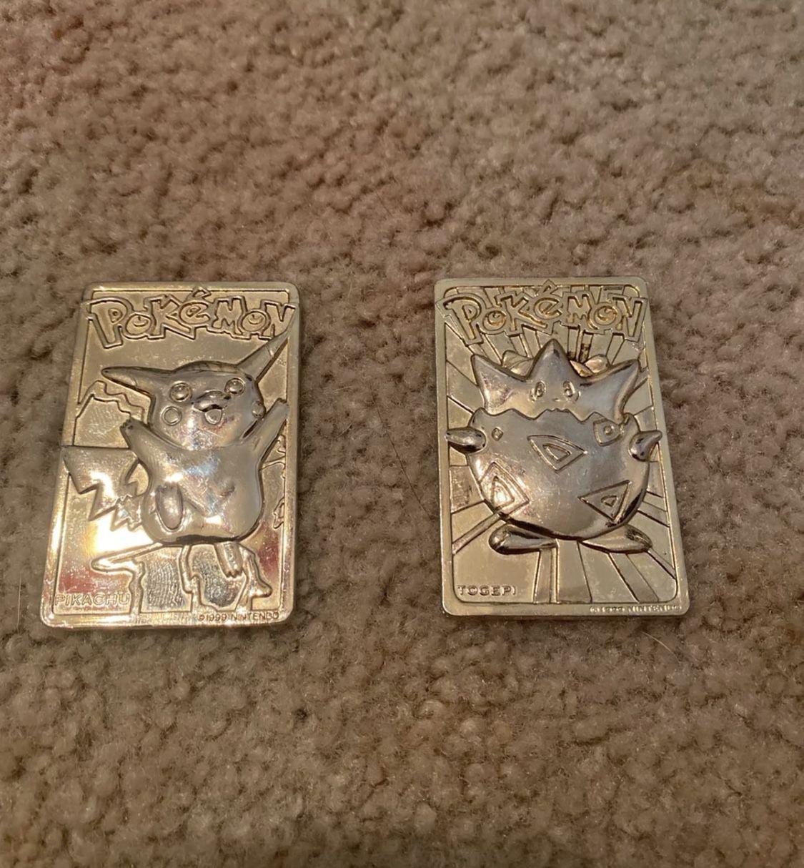 (Negotiable) 24k Gold Pokemon Cards Pikachu and Togepi