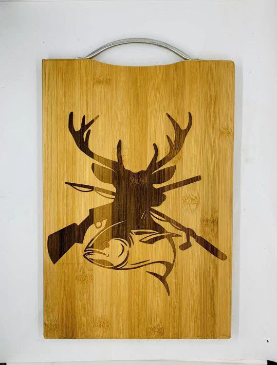 Outdoorsman Laser Engraved Bamboo High Quality Cutting Board