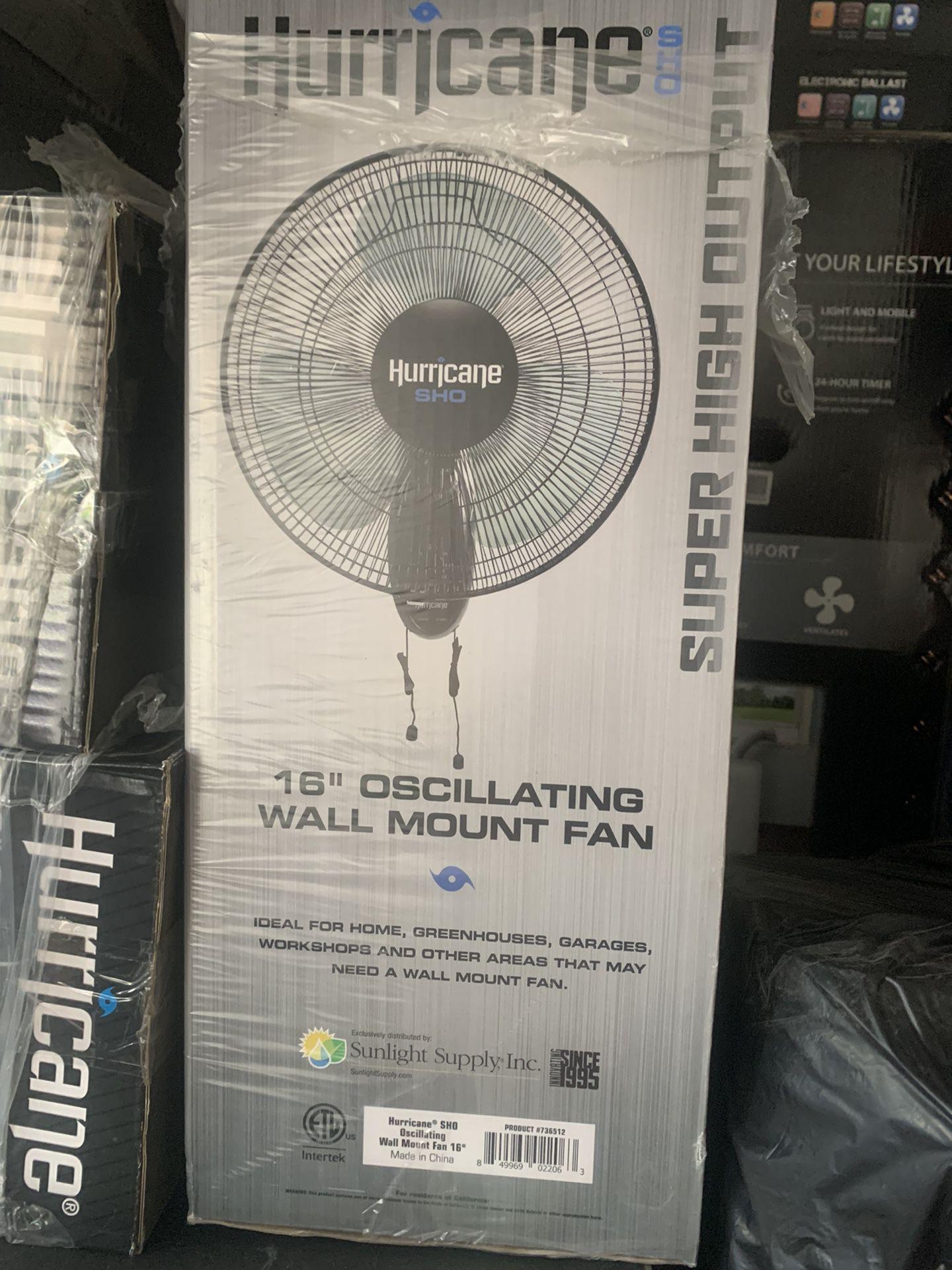 Hurricane Oscillating Wall Mount Fan