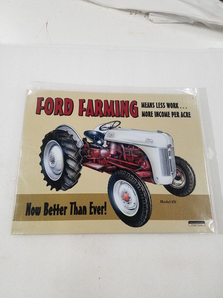 Ford farm farming tractor metal sign